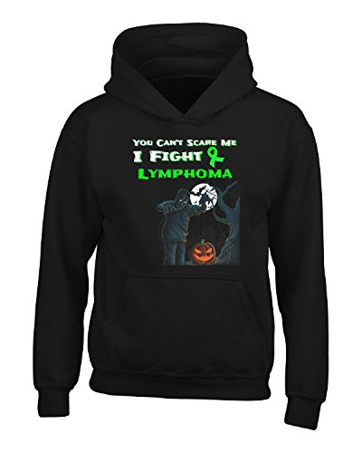 You Can't Scare Me I Fight Lymphoma Awareness Lime - Adult Hoodie 5xl Black