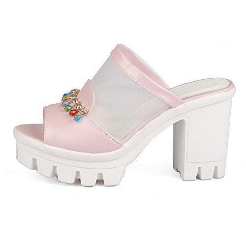 talons AllhqFashion rose et à pour hauts à femmes Chaussures talons hauts 6vO6Yrq