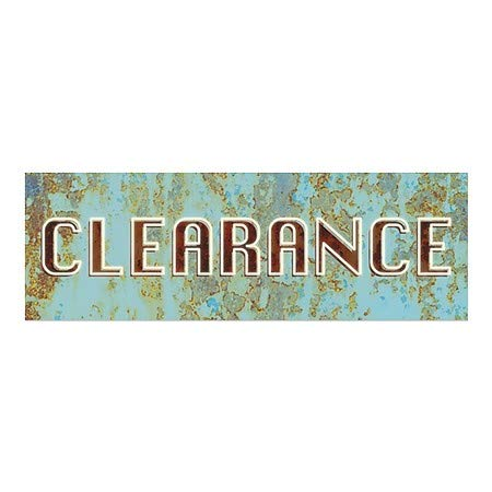 Ghost Aged Blue Window Cling Clearance 5-Pack CGSignLab 36x12