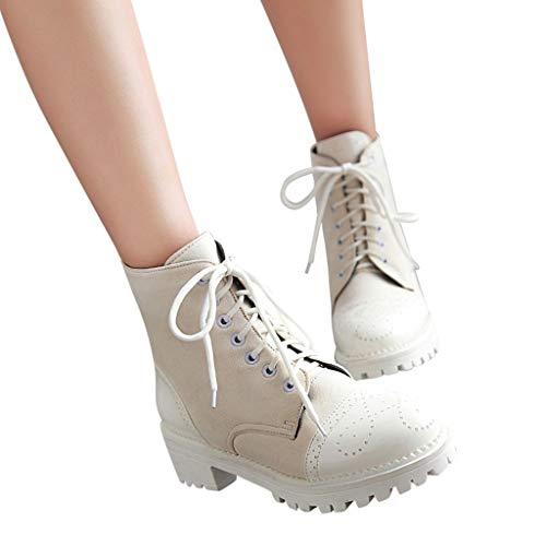 Simples Daim Lacets Baskets Bout Femme Rétro Automne Rond Rbnb D'hiver Fille Mode Sexy Classiques Air Plein Chaussures Casual Bottines Blanc Bottes w6qFIgC