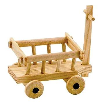carro Carro di 8x6cm di legno Kimmerle miniatura naturale bYf7g6y