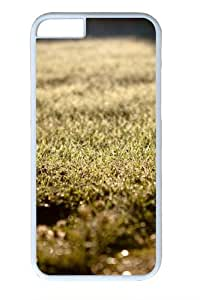 Depth of field grass Custom iphone 6 plus 5.5 inch Case Cover Polycarbonate White