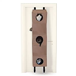 "K&H Pet Products Hangin' Cat Condo Small Tan 16"" x 16"" x 65"" Cat Furniture"