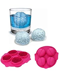 Take 4x Novelty TPR Household Party Brain Shaped Freeze Ice Mold Tray-light - Random Color lowestprice