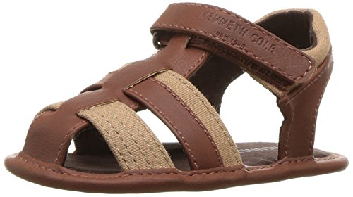 Image of Kenneth Cole REACTION Boys' Baby Swim Sandal, Cognac, 4 M US Toddler