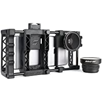Beastgrip Pro + Wide Angle and Fish Eye Lenses Bundle. Universal iPhone lens adapter, camera rig, tripod mount, also works with Android and Windows phones.