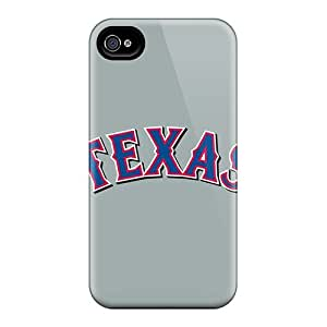 For Iphone 4/4s Premium Tpu Case Cover Baseball Texas Rangers 4 Protective Case