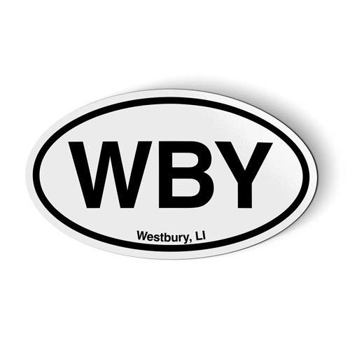 Stickers & Tees WBY Westbury Long Island Oval - Car Magnet - 5