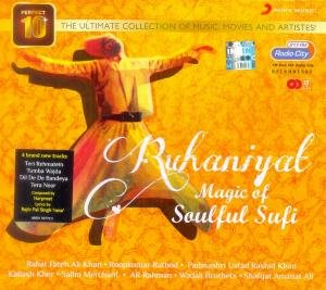 Ruhaniyat - Magic 0f Soulful Sufi [2 Cds Set] Rahat Fateh Ali Khan , Ust Rashid Khan , Kailash Kher , Salim Merchant & (Rahat Magic)