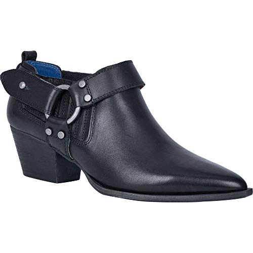 Dingo Western Shoes Womens Kickback Leather Bootie 6.5 M Black DI106