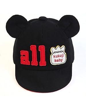 Baby Boy Girl Kid Toddler Infant Sun Hat Peaked Baseball Cap