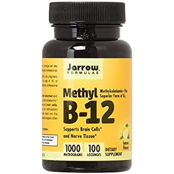 Jarrow Formulas Methyl B-12 - Lemon 100 Loznges (2 Pack)