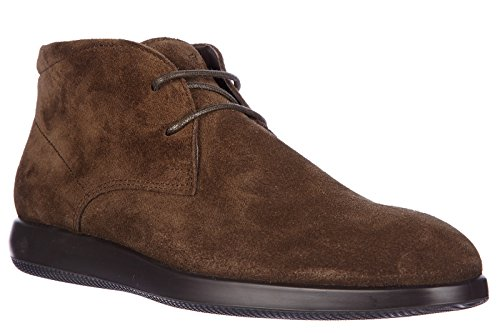 Hogan bottines demi-bottes homme en daim h209 dress x derby marron