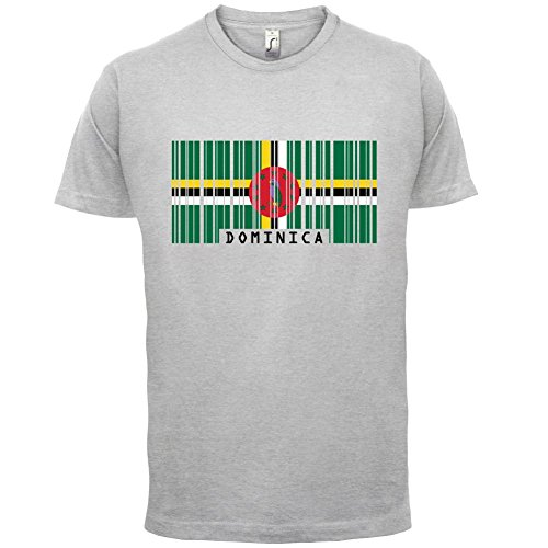Dominica Barcode Flagge - Herren T-Shirt - Hellgrau - M
