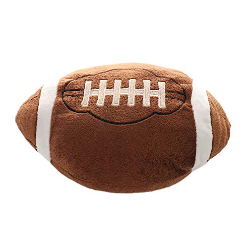 Asdomo Football Plush Pillow Fluffy Stuffed Throw Pillows Soccer Sports Ball Soft Durable Sports Toy Gift for Kids Sofa Room Decoration 11.8