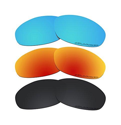 3 Pairs Polarized Lenses Replacement T2 for Oakley Twenty XX