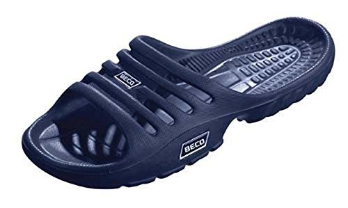 NEW Beco diapositive Chaussures de piscine Bain Leau Plage Sandales aquawear piscine côté Chaussures Bleu Bleu roi 45/10