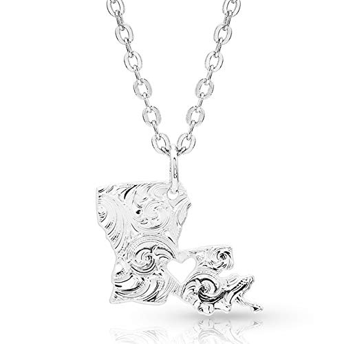 (Montana Silversmiths I Heart Louisiana State Charm Necklace)
