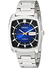 Seiko Men's RECRAFT SERIES Stainless Steel Automatic-self-Wind Watch with Stainless-Steel Strap, Silver, 21 (Model: SNKP23)