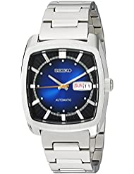Seiko Mens RECRAFT SERIES Automatic Stainless Steel Casual Watch, Color:Silver-Toned (Model: SNKP23)