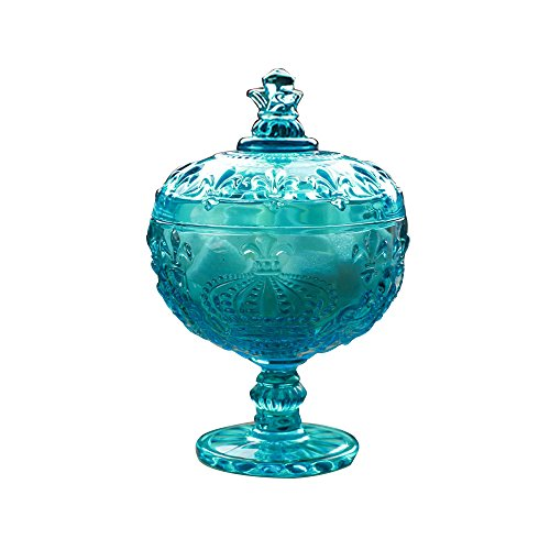 Jomop Art Deco Sugar Bowl with Lid (Blue)