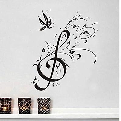 Hermosa Diy Decoración Para El Hogar Floral Clave De Sol Etiqueta ...