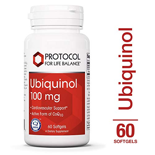 Protocol For Life Balance - Ubiquinol 100 mg - Cardiovascular Support with Active Form of CoQ10, Supports Energy Production, Heart Health, Antioxidant Activity - 60 Softgels