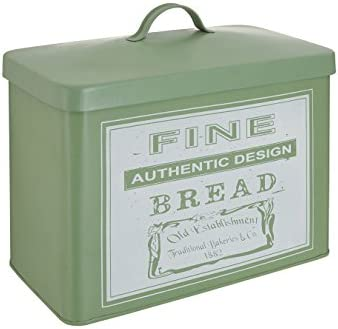 19 x 34 x 28cm Green Premier Housewares Whitby Bread Bin Metal Kitchen Tea