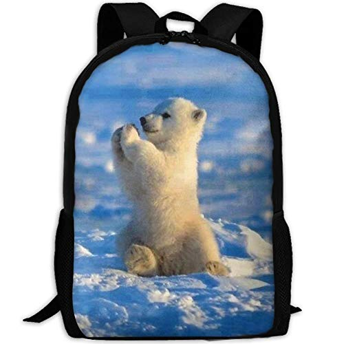 Babies Polar Hemp - Casual Baby Polar Bear Laptop Backpack School Bag Shoulder Bag Travel Daypack Handbag