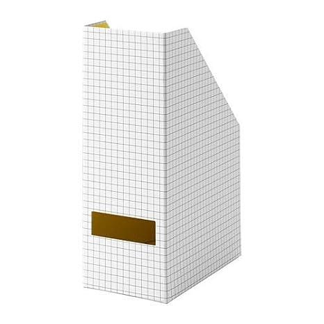 Ikea Hejsan revistero archivador blanco amarillo: Amazon.es: Oficina y papelería