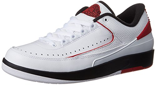 Nike Jordan Mens Air Jordan 2 Retro Low White/Varsity Red Black Basketball Shoe 12 Men US (Xii Air Low Jordan Retro)
