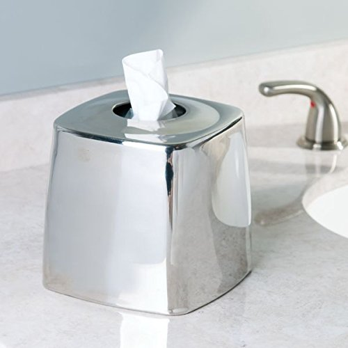 Mdesign Facial Tissue Box Cover Holder For Bathroom Vanity Countertops Pack Of 2 Polished