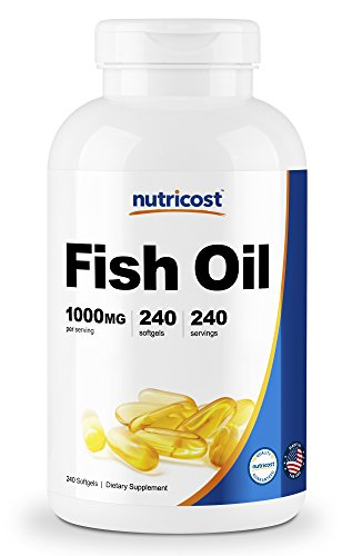 Cheap Nutricost Fish Oil Omega 3 1000mg (600mg of Omega-3), 240 Softgels – High Quality, Non-GMO, Gluten Free