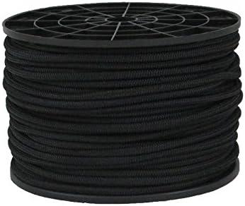 BUNGEE CORD black 8mm x 1m shock chord elastic rope 8