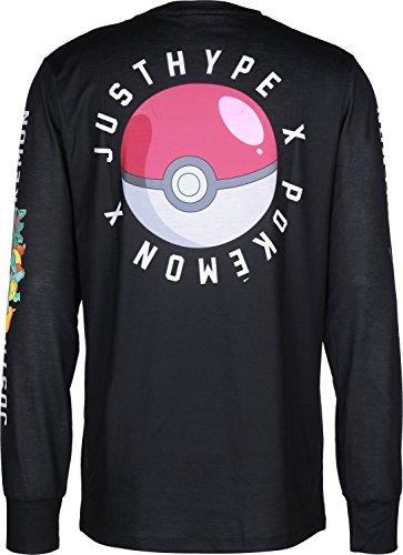 Hype Pokeball Camiseta de manga larga negro