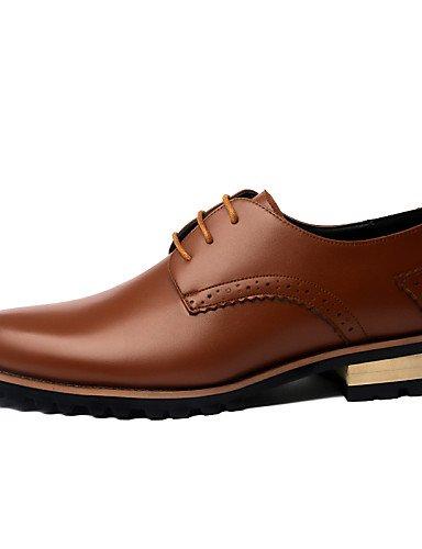 0.5cordones zapatos de hombre Oficina y Trabajo/Casual/planeta y el Día de piel negro/azul/marrón/Borgoña negro