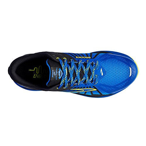 Brooks Caldera, Chaussures de Course Homme, Noir Electric Brooks Blue/Lime Popsicle/Bluefish
