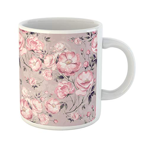 - Semtomn Funny Coffee Mug Wild Rose H the Pattern Watercolor Sketches Beautiful 11 Oz Ceramic Coffee Mugs Tea Cup Best Gift Or Souvenir