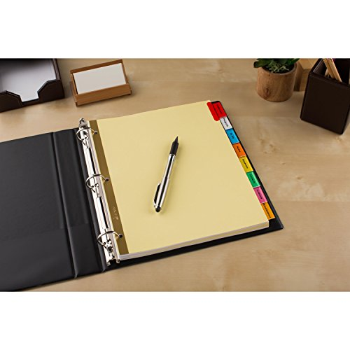 Avery Big Tab Insertable Dividers Buff Paper 8 Multicolor Tabs 1