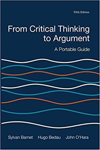 Amazon from critical thinking to argument ebook sylvan barnet from critical thinking to argument 5th edition kindle edition fandeluxe Choice Image