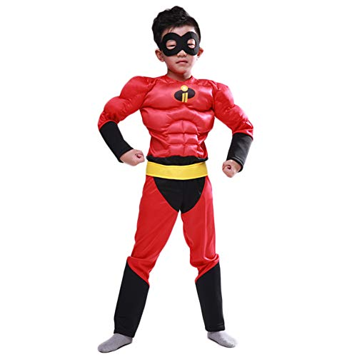 Hallowmax The Incredibles Costume Deluxe Muscle Chest Cosplay Outfits]()