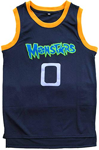 (MVG ATHLETICS Monstars #0 Alien Throwback Basketball Jersey Stitched S-XXL)