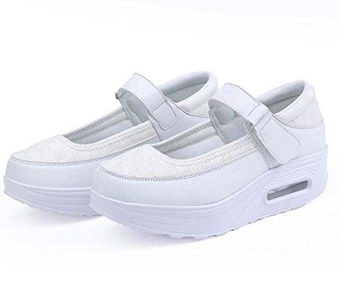 Casuales Boca de Profunda Las de Shake Enfermera Zapatos Zapatos Poco de Blanco Zapatos Air la Cushion Zapatos atléticos Zapatillas Spring la Casuales Mujeres 5xPtqWzWOw