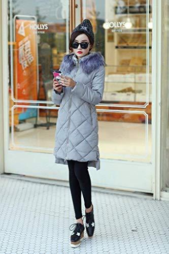 paissir Stepp Warm Manches Fashion Doudoune Longues Hiver Manteau Parka Outdoor Spcial Style Doudoune Femme Manteaux Capuchon Grau Longues Chemine Elgante 7ZPZz