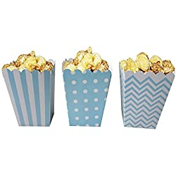 Popcorn Boxes, Blue, Pack of 36