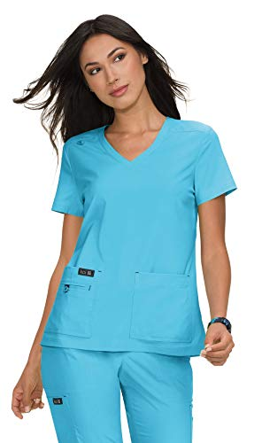 KOI Basics 373 Women's Becca Scrub Top Electric Blue XS