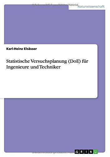 Statistische Versuchsplanung (DoE) für Ingenieure und Techniker