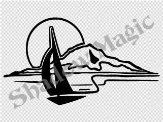 ヨット ステッカー 白