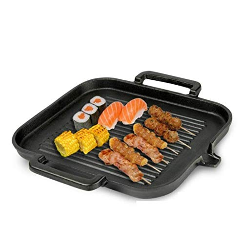 QIN.J.FANG-Kitchen pot Cast iron grill,Cast Iron Square Grid