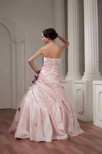 GEORGE Liebsten Appliques Abendkleid mit Taft BRIDE Rosa Perlen Rueschenband TZ50RqrwnT